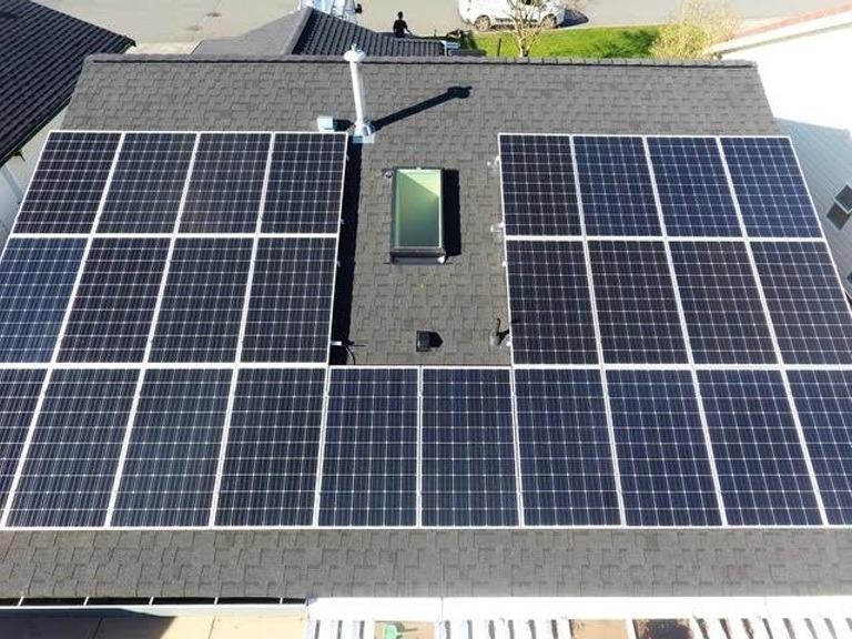 Ladner-BC-8kW-Install solar panel installation