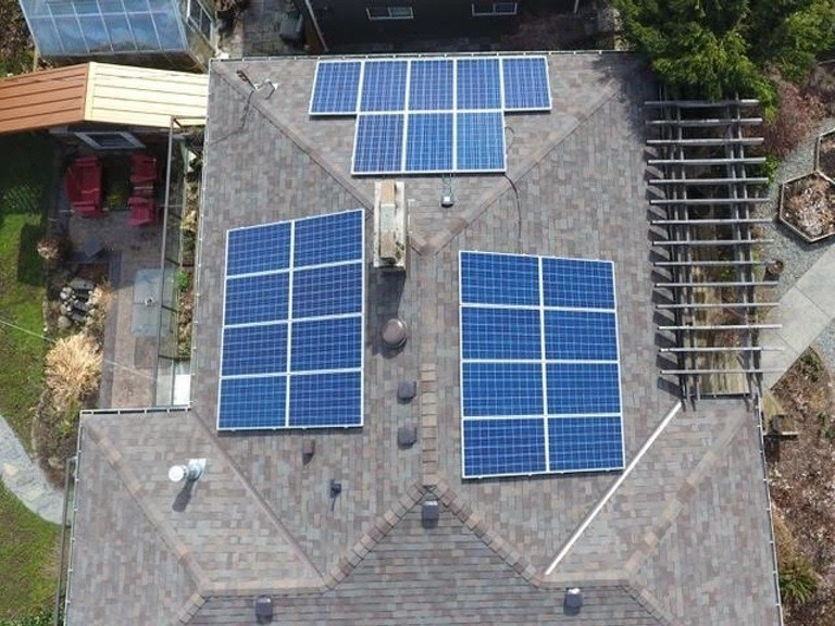 New-Westminster-BC-6.4kW solar panel installation