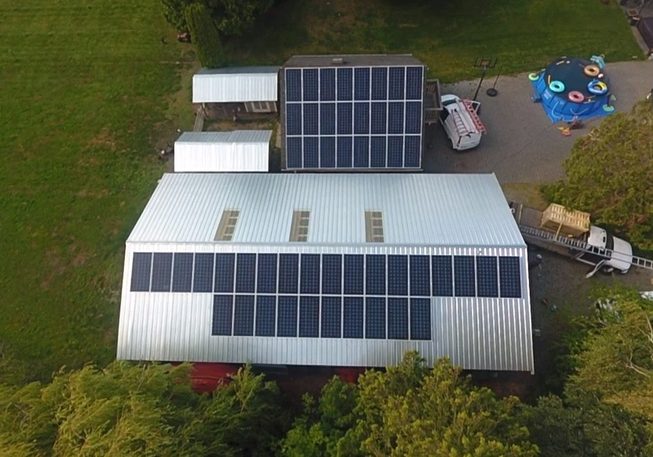 One of the Ladner commercial buildings with solar energy