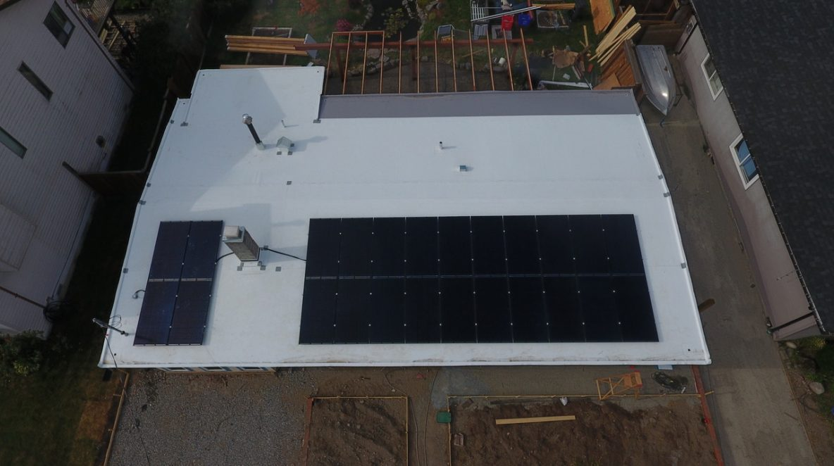 8.2 kW solar panel system installed on an industry in Maple Ridge