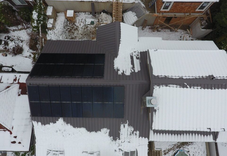 Our solar panel specialists can install in the winter