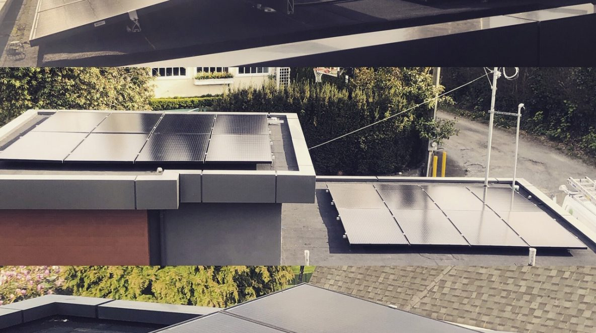 A Vancouver new modern house with a 12.1 kW solar system