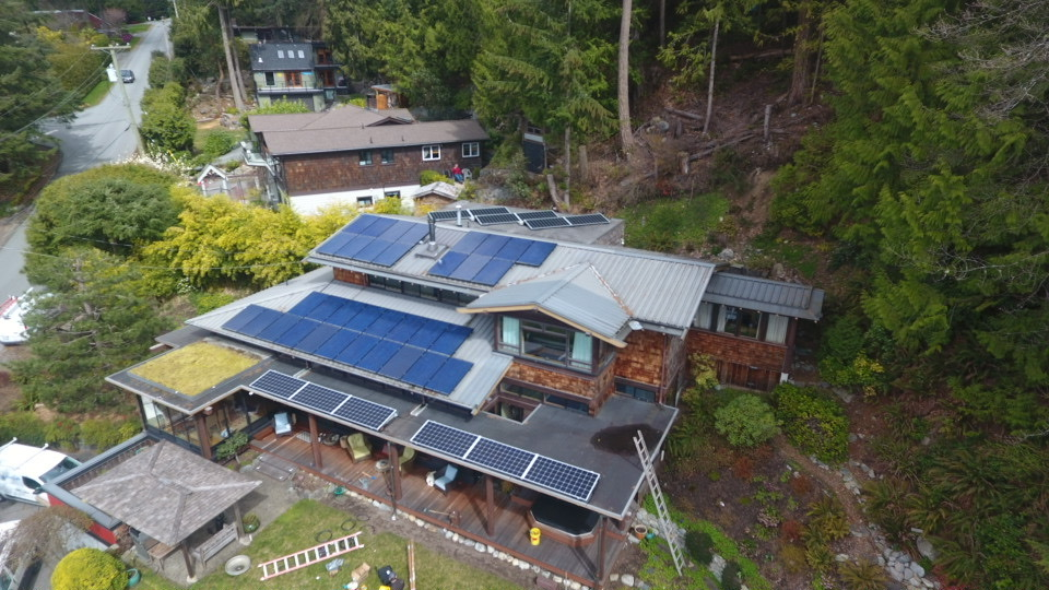 A residential solar panel project in Lion Bays