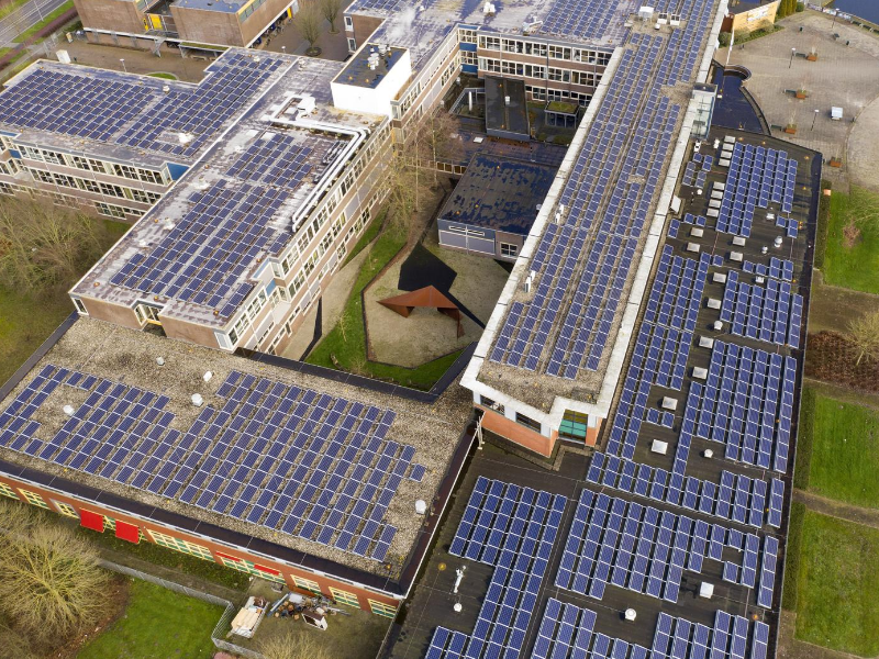 A whole school installed solar panels to save their electrical fee