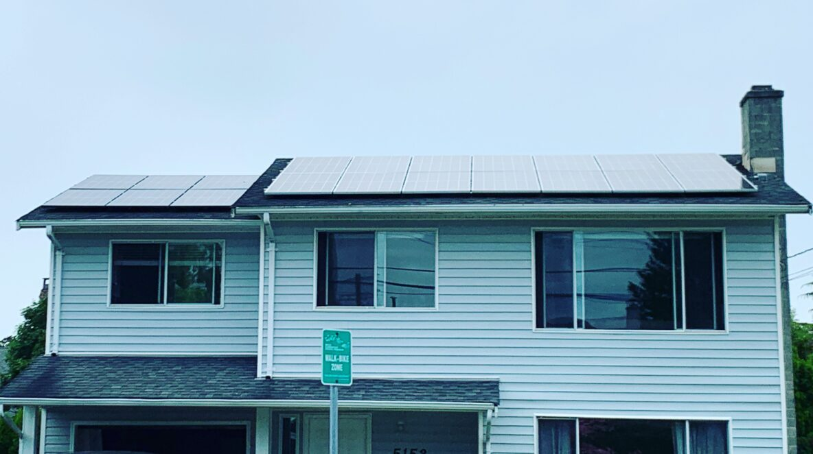11.2 kW solar panels on a Ladner's house