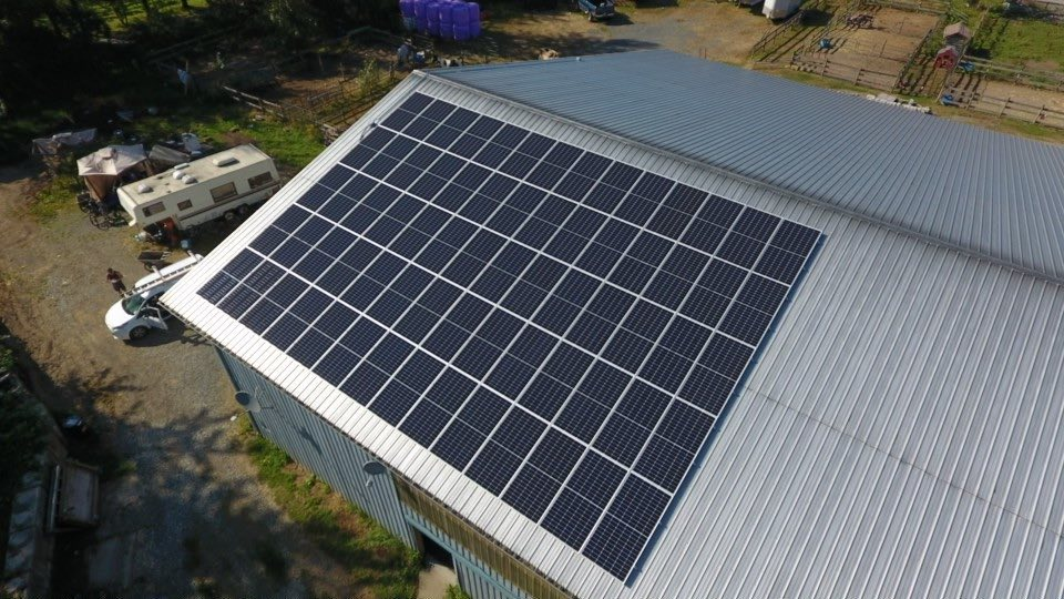 We have installed a commercial solar panel at one of the industries in Langley