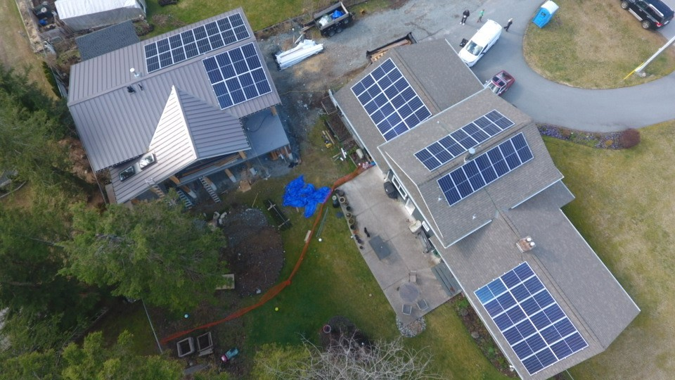 We installed solar panels on one of the houses in Squamish
