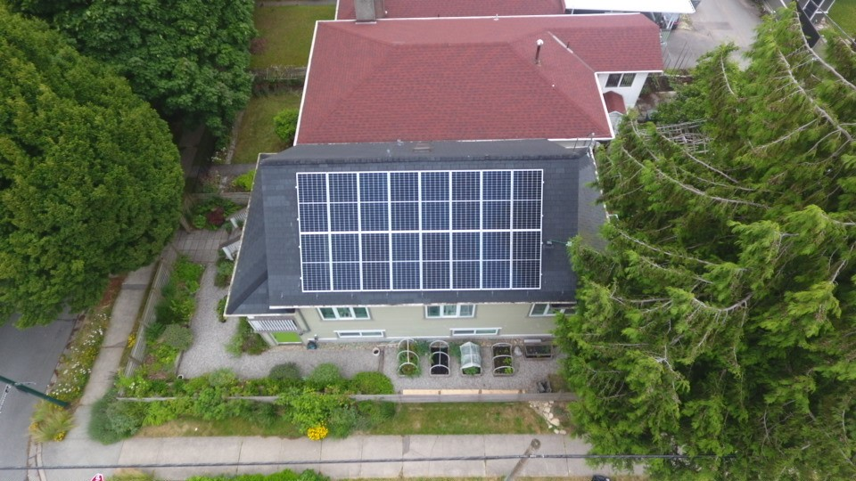 A Vancouver house with a 6.4 kW solar panel system