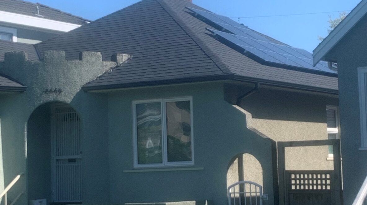 A Vancouver house with a 7.5 kW solar panel system