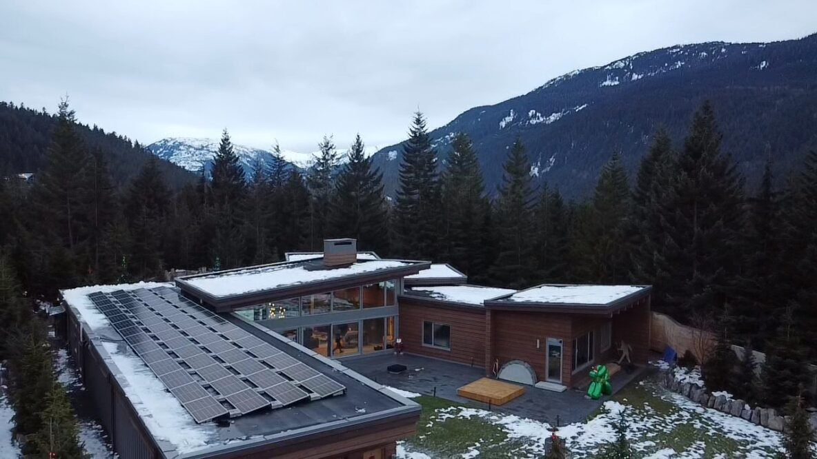 A Whistler house with 24 kW solar panel system