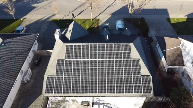 One of the residential solar panel projects in Langely
