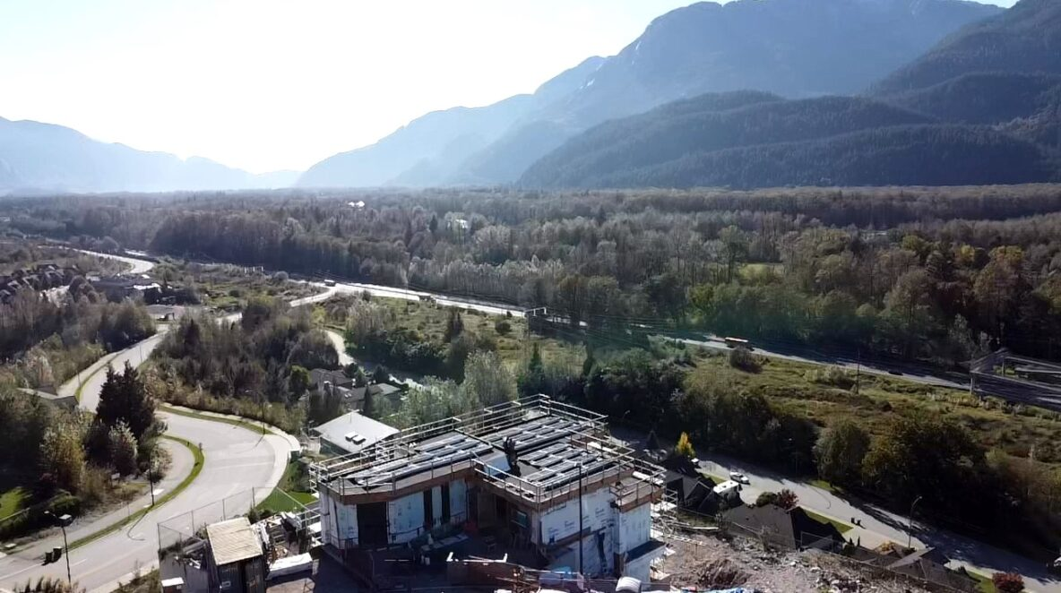 A Squamish new house installed with solar panels
